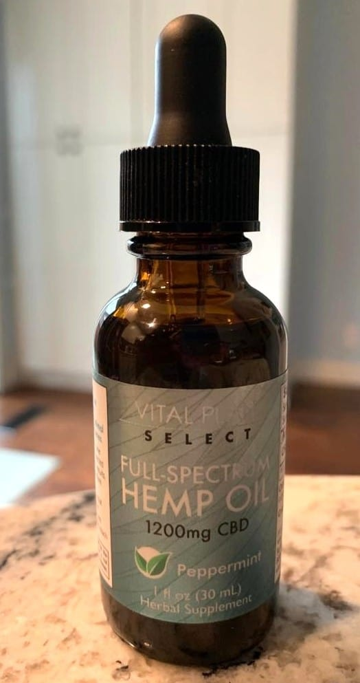 Vital Plan Select Full Spectrum Hemp Oil Tincture 1200mg Peppermint save on cannabis testing process