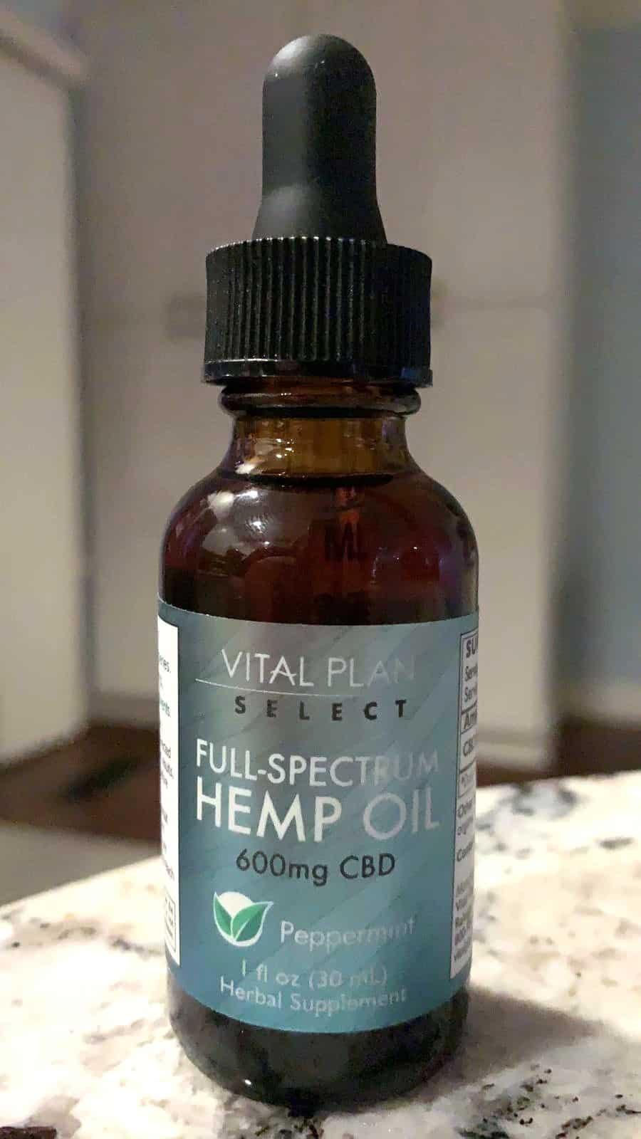 Vital Plan Select Full Spectrum Hemp Oil Tincture 600mg Peppermint testing process