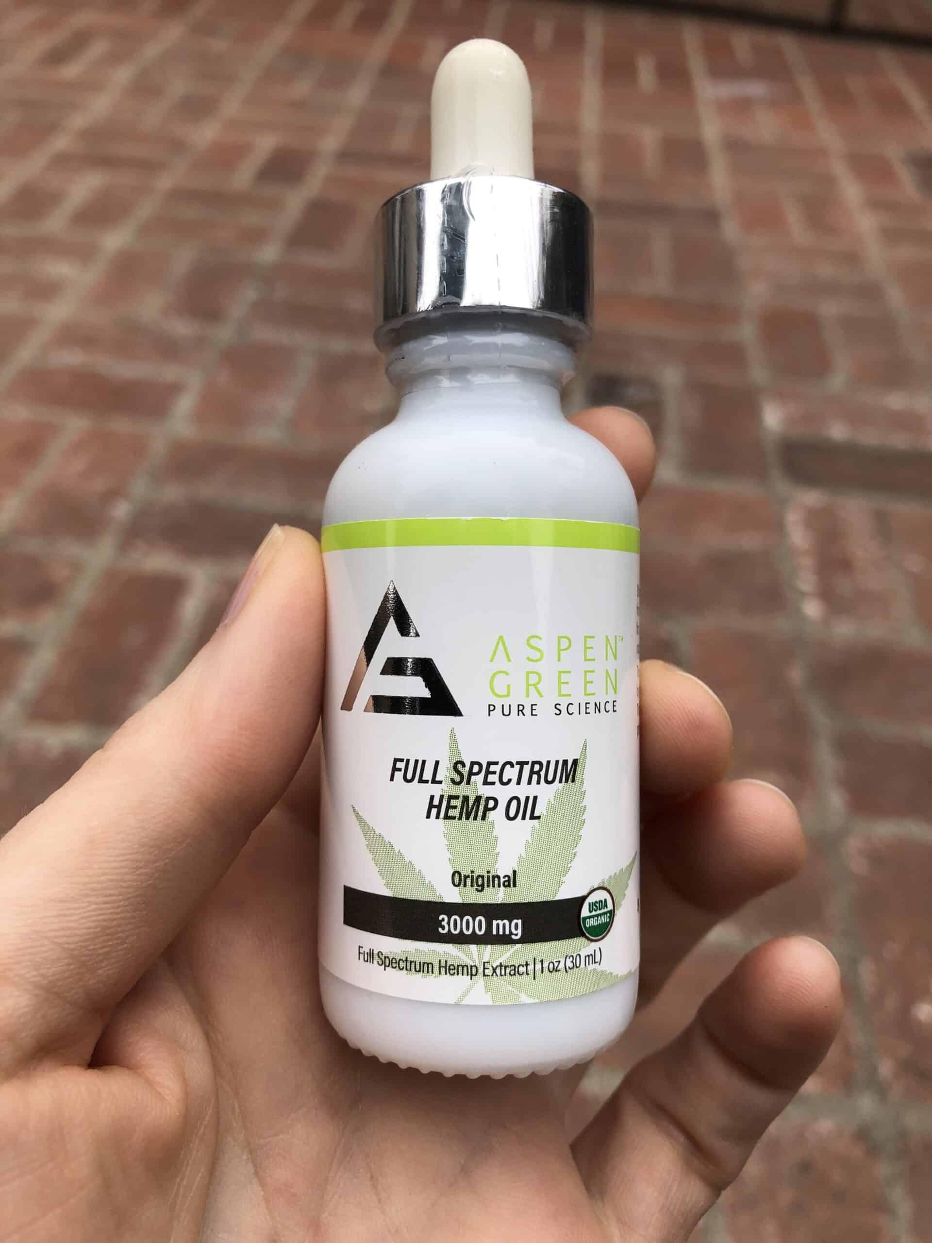 Aspen Green Full Spectrum Hemp Oil - 3,000 MG