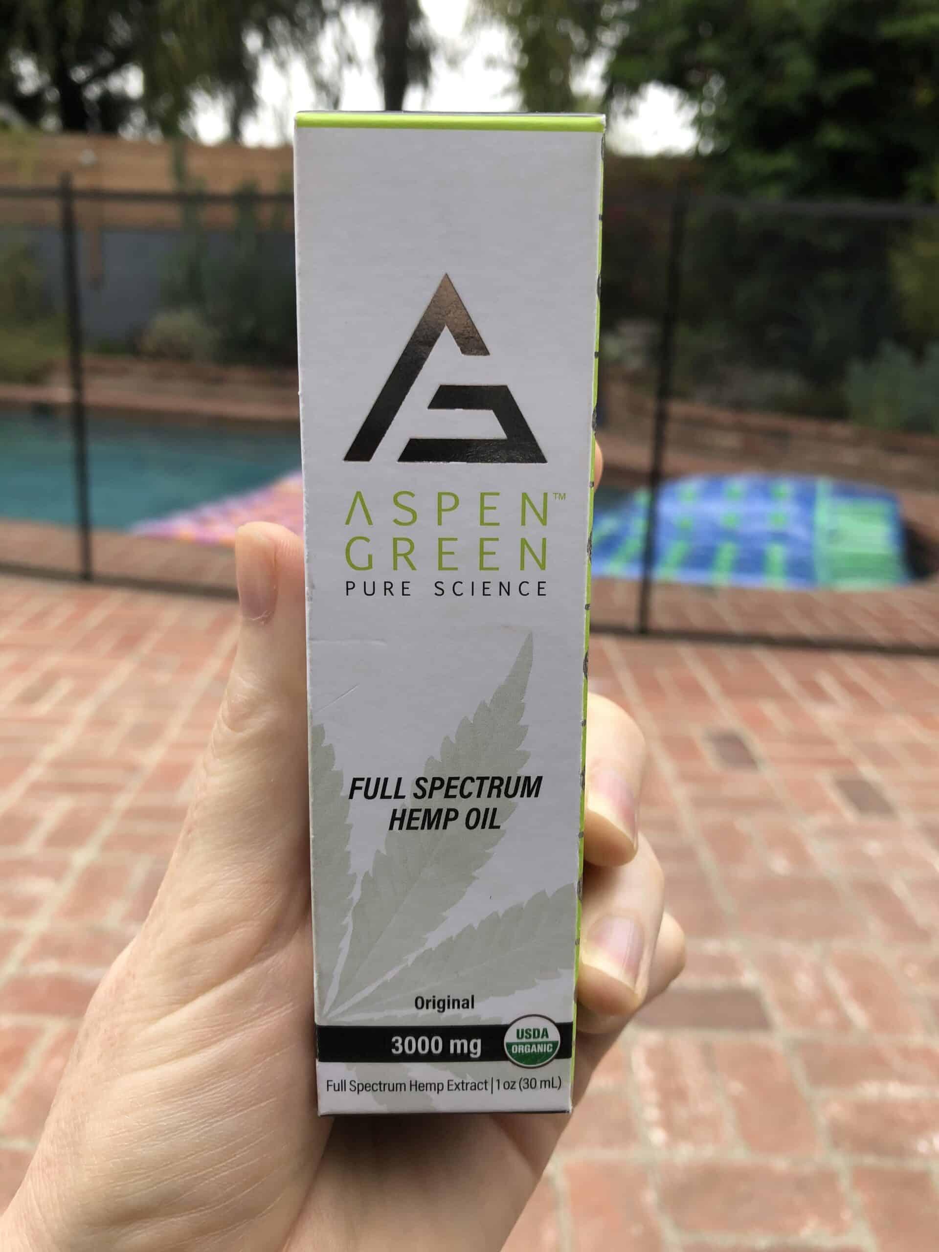 aspen green full spectrum hemp oil 3,000 mg save on cannabis review