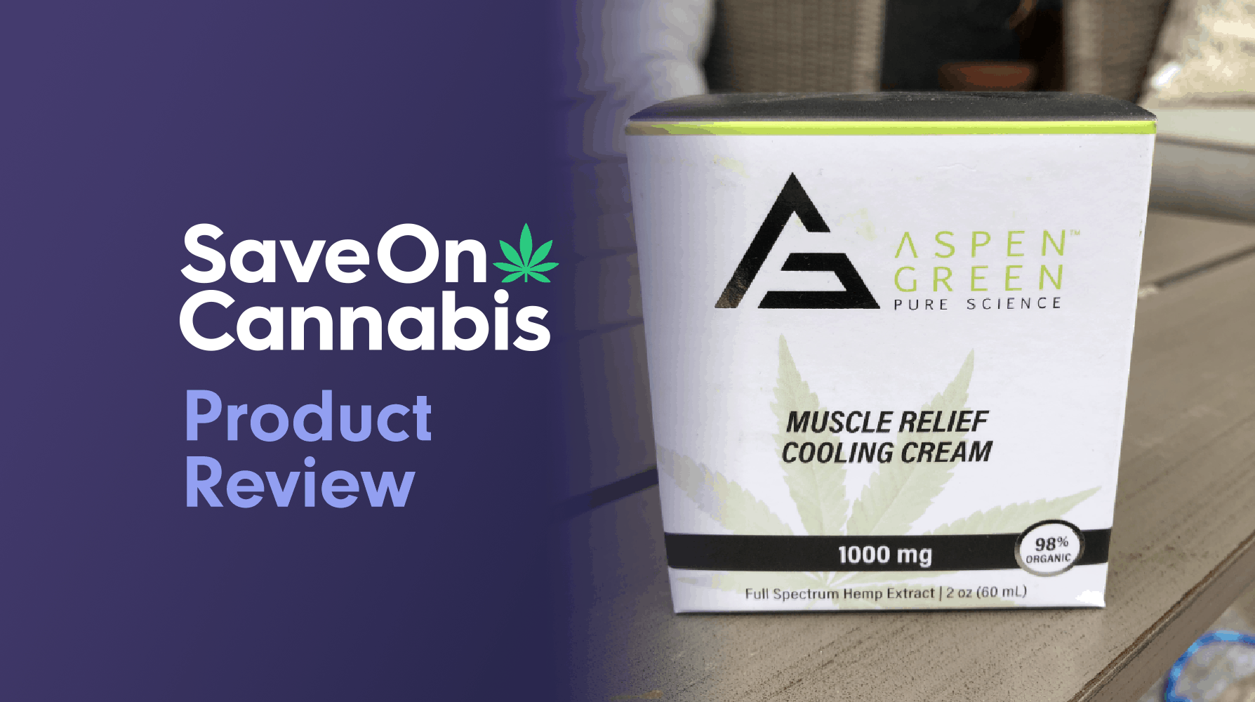 aspen green muscle relief cooling cream review save on cannabis website