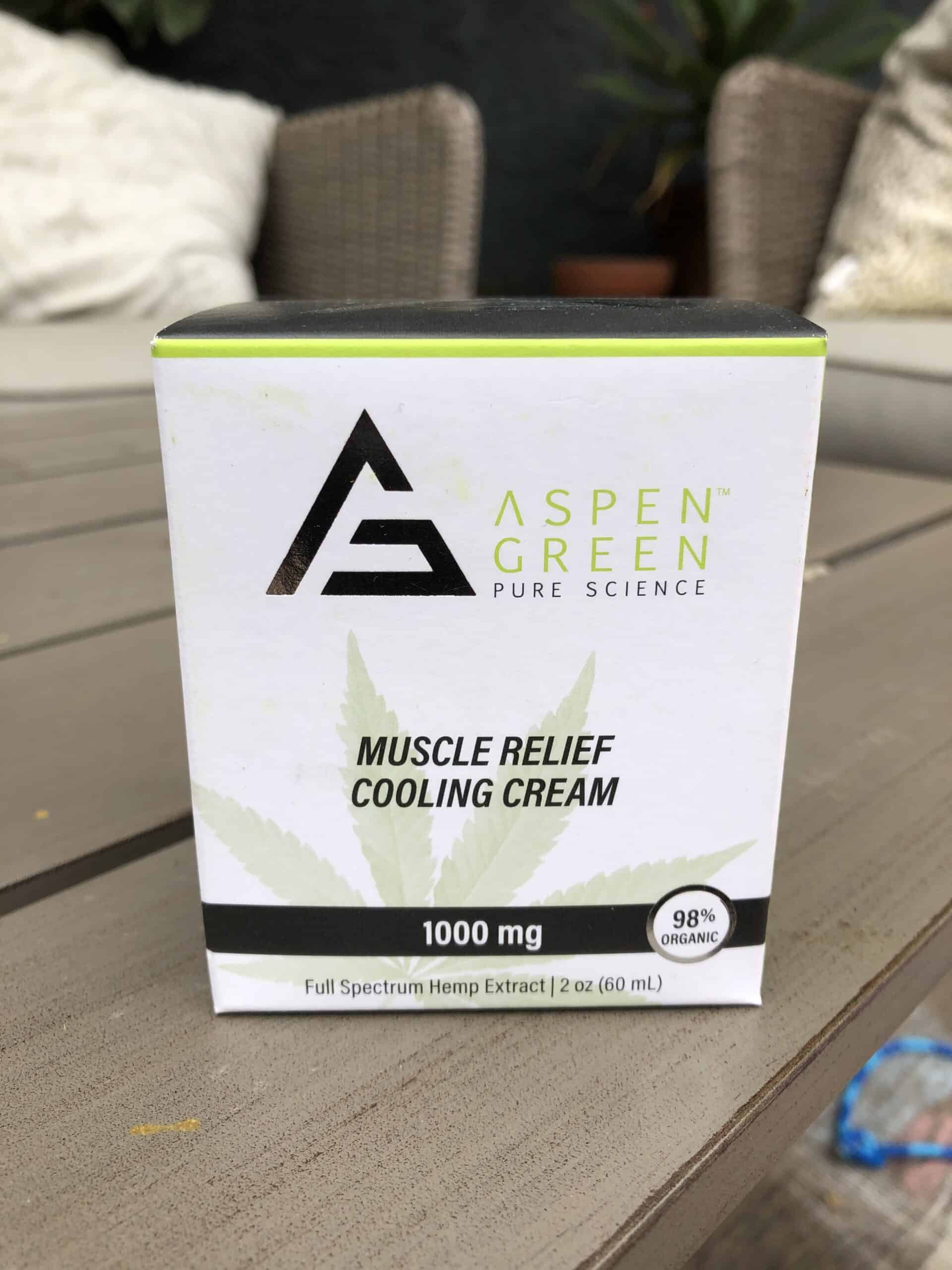 aspen green muscle relief cooling cream save on cannabis review