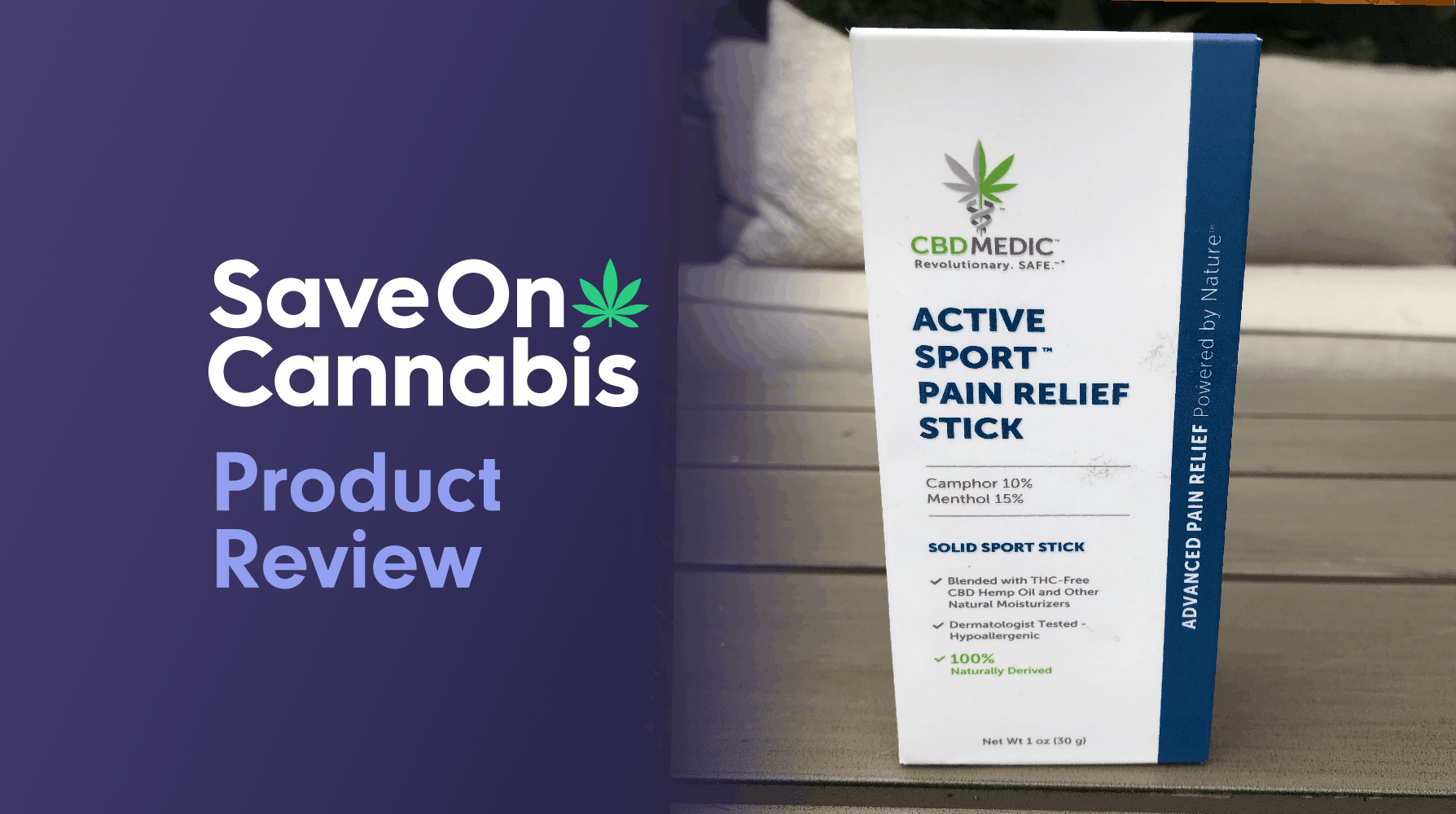 cbdmedic active sport pain relief stick review save on cannabis website