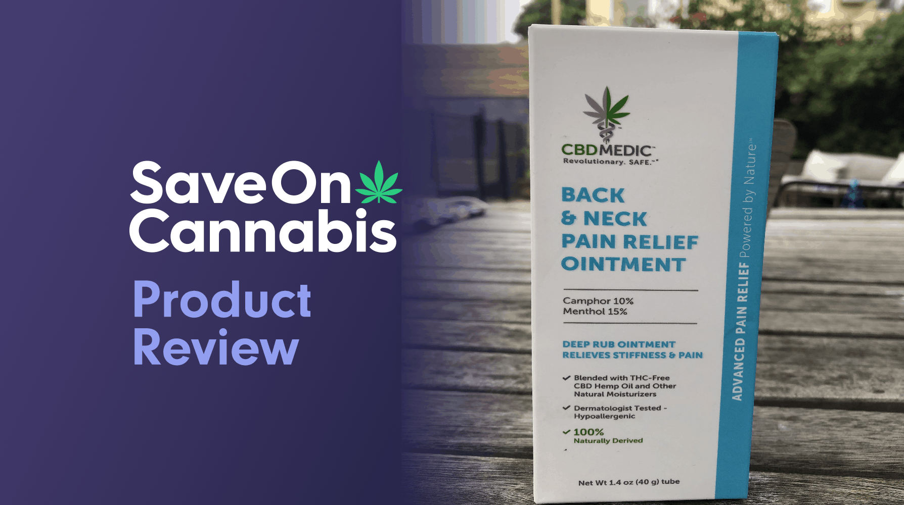 cbdmedic back and pain relief ointment review save on cannabis website