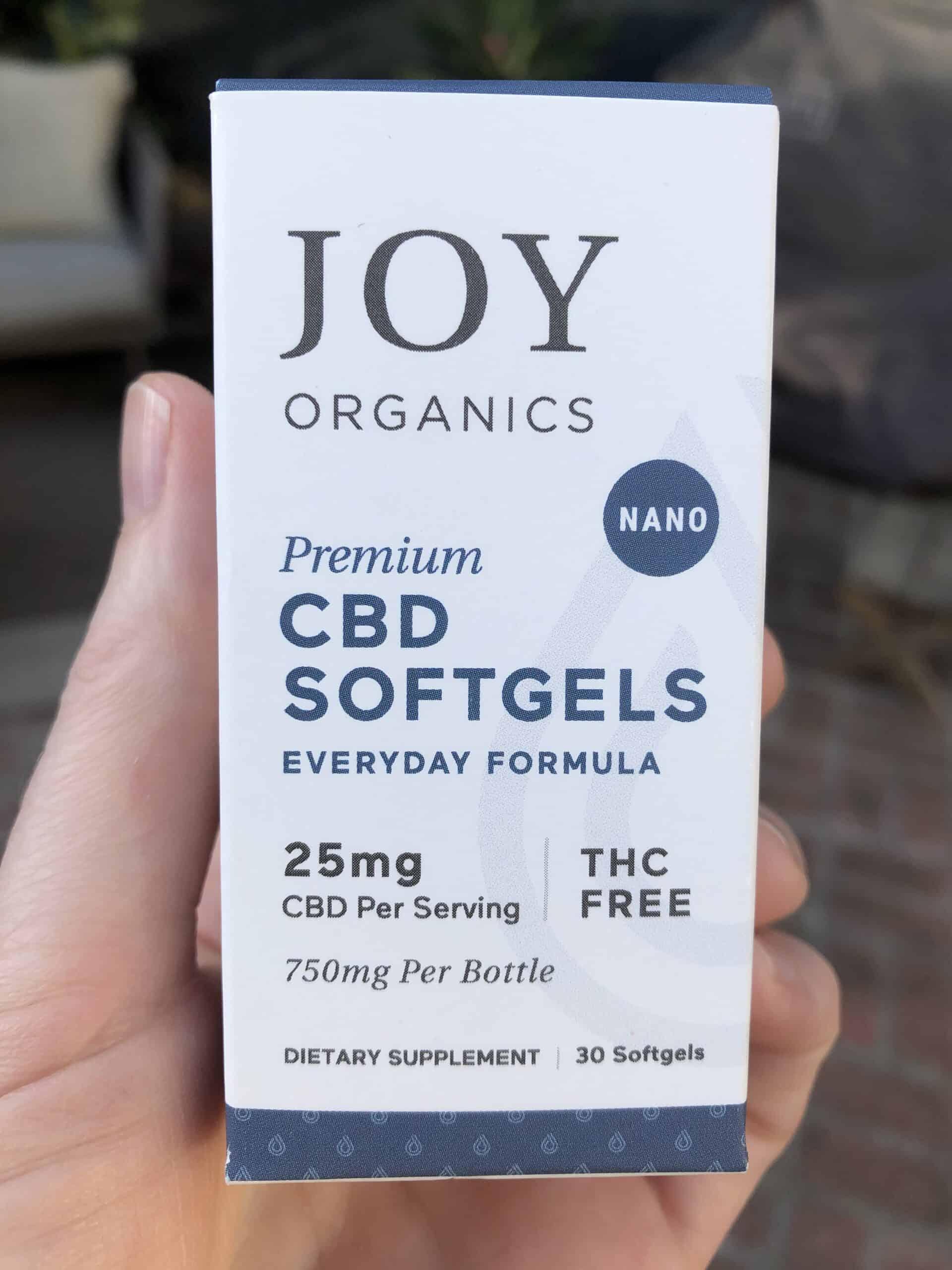 Joy Organics CBD Softgels 750mg
