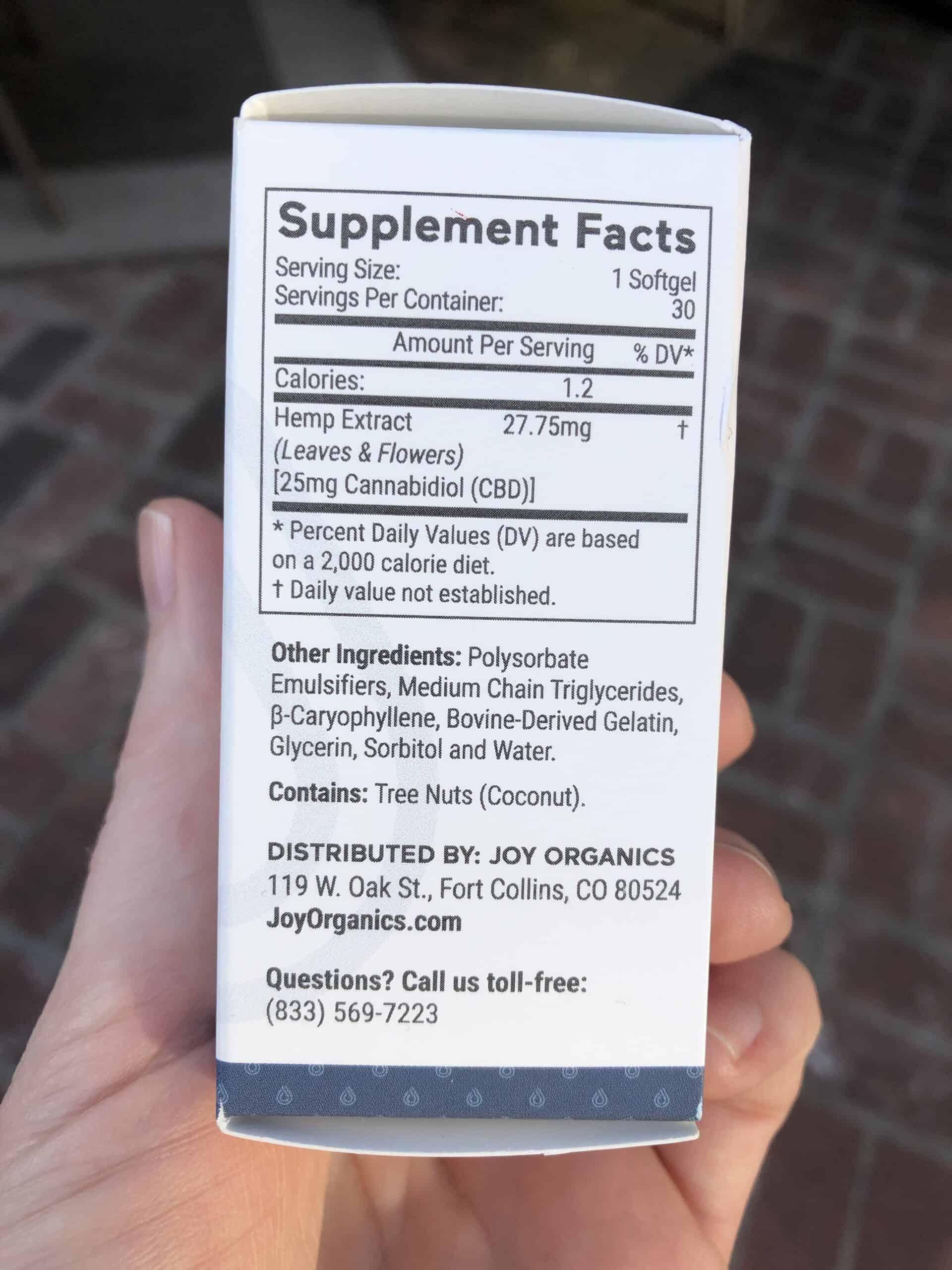 joy organics cbd softgels save on cannabis specifications