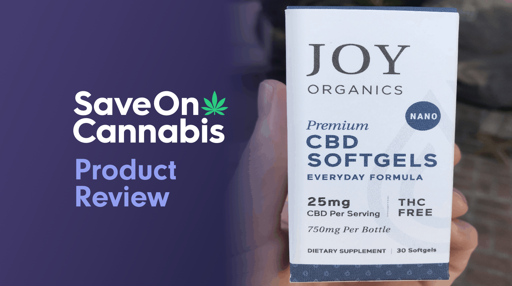joy organics cbd softgels save on cannabis website