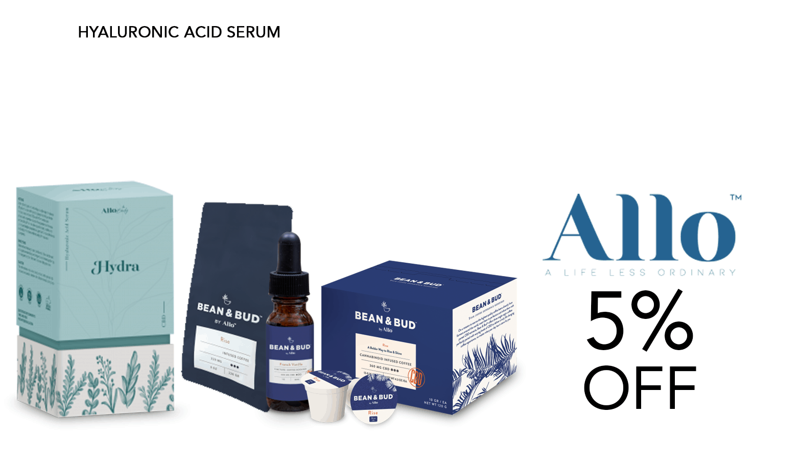 Allo CBD Coupons 5 Percent Off Code Offer Website