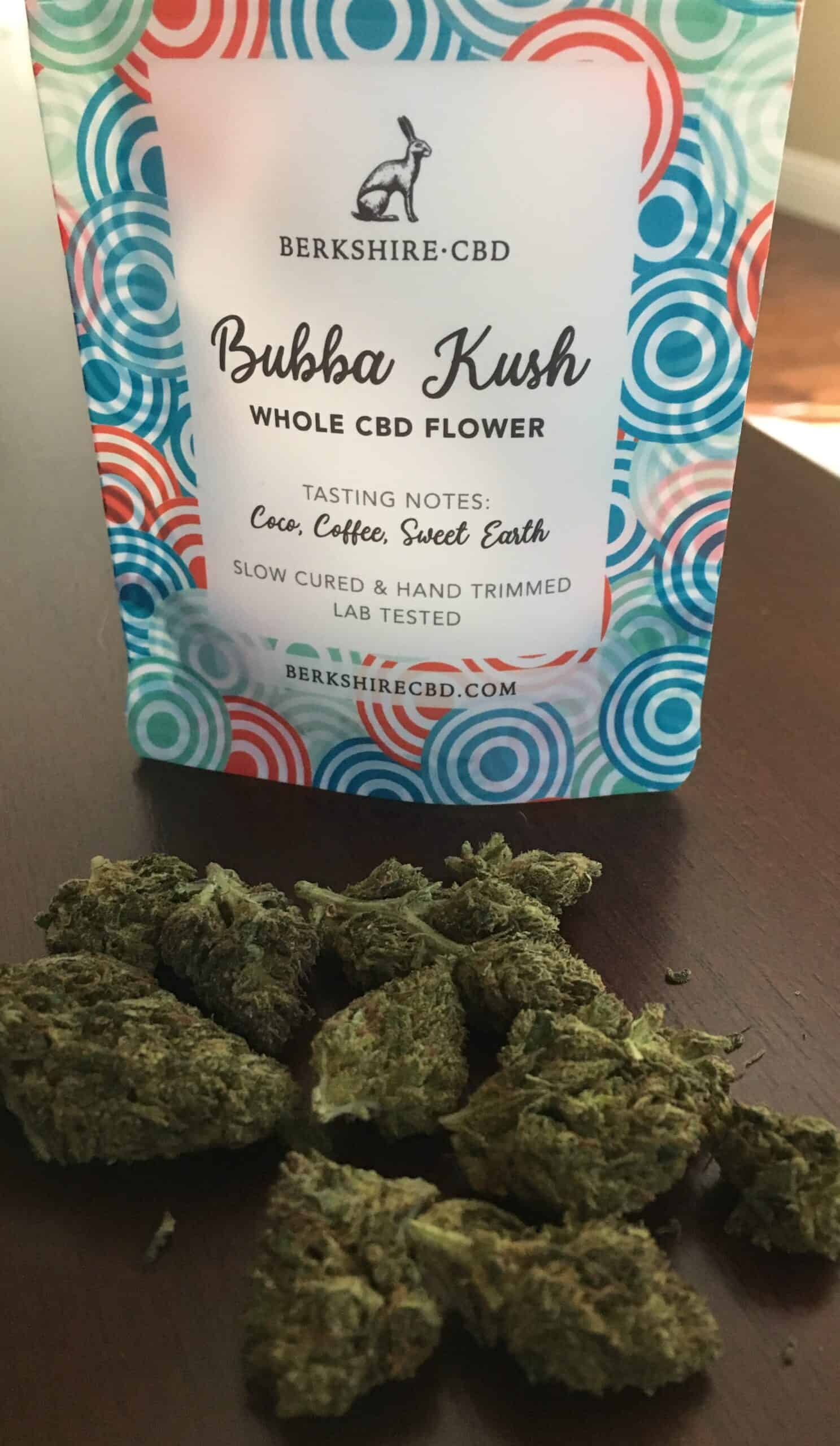 Berkshire CBD Bubba Kush Whole Hemp Flower Save On Cannabis Beauty Shot