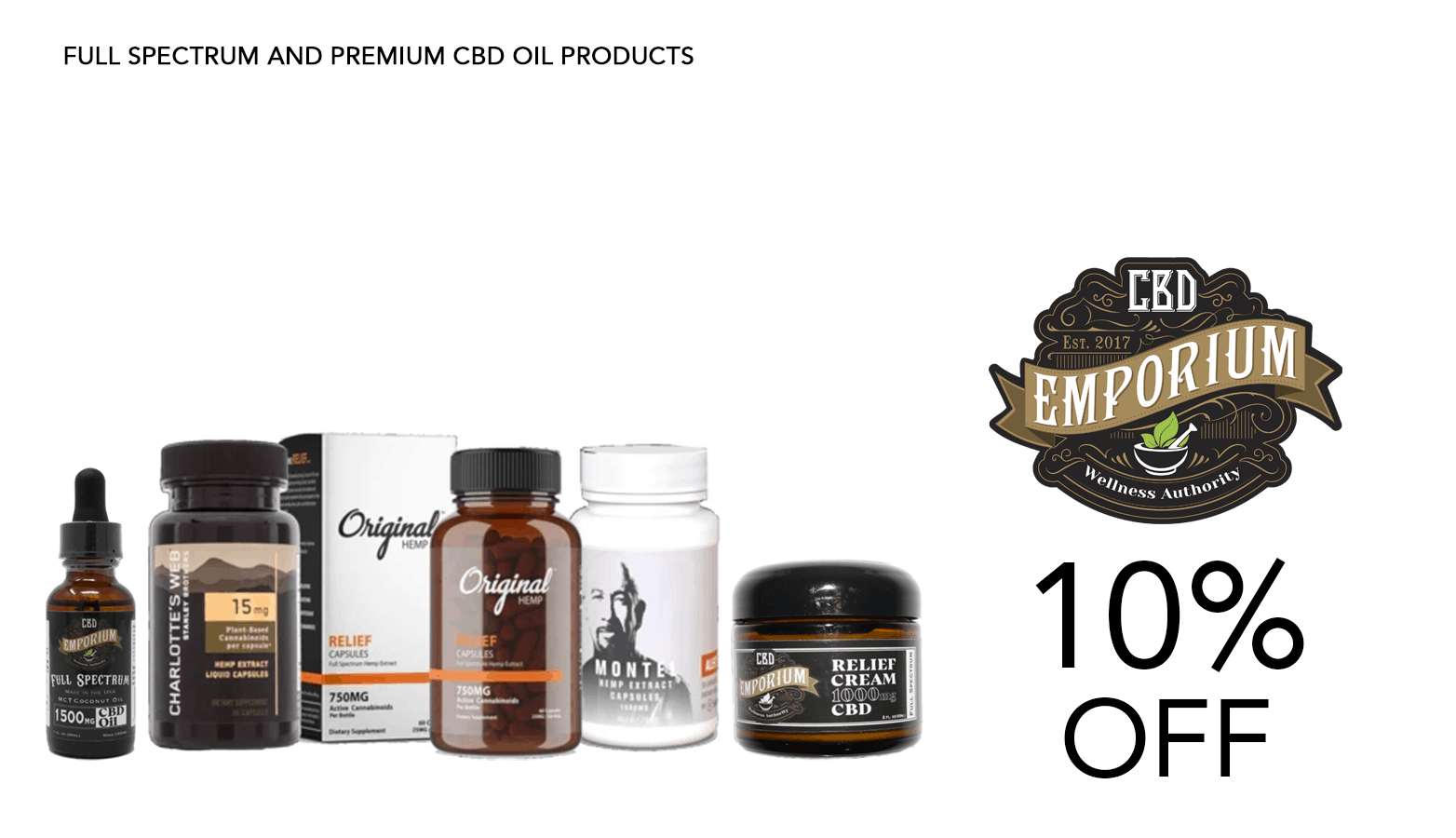 CBD Emporium Coupon Code Promo Website