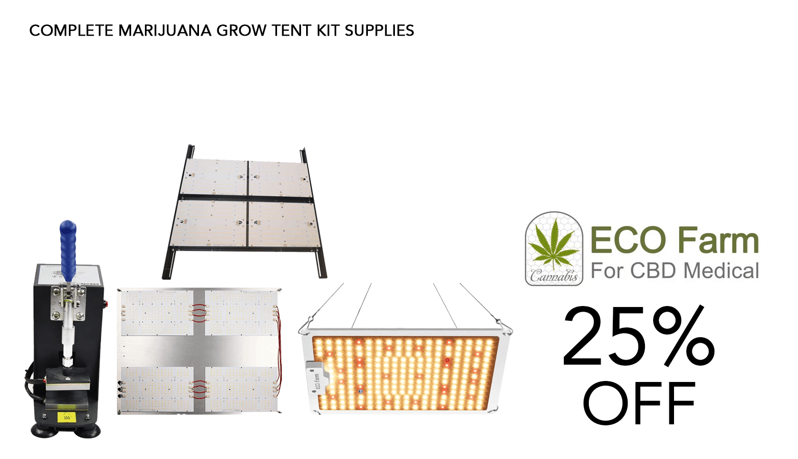 ECO Farms Cannabis Grow Offer Website