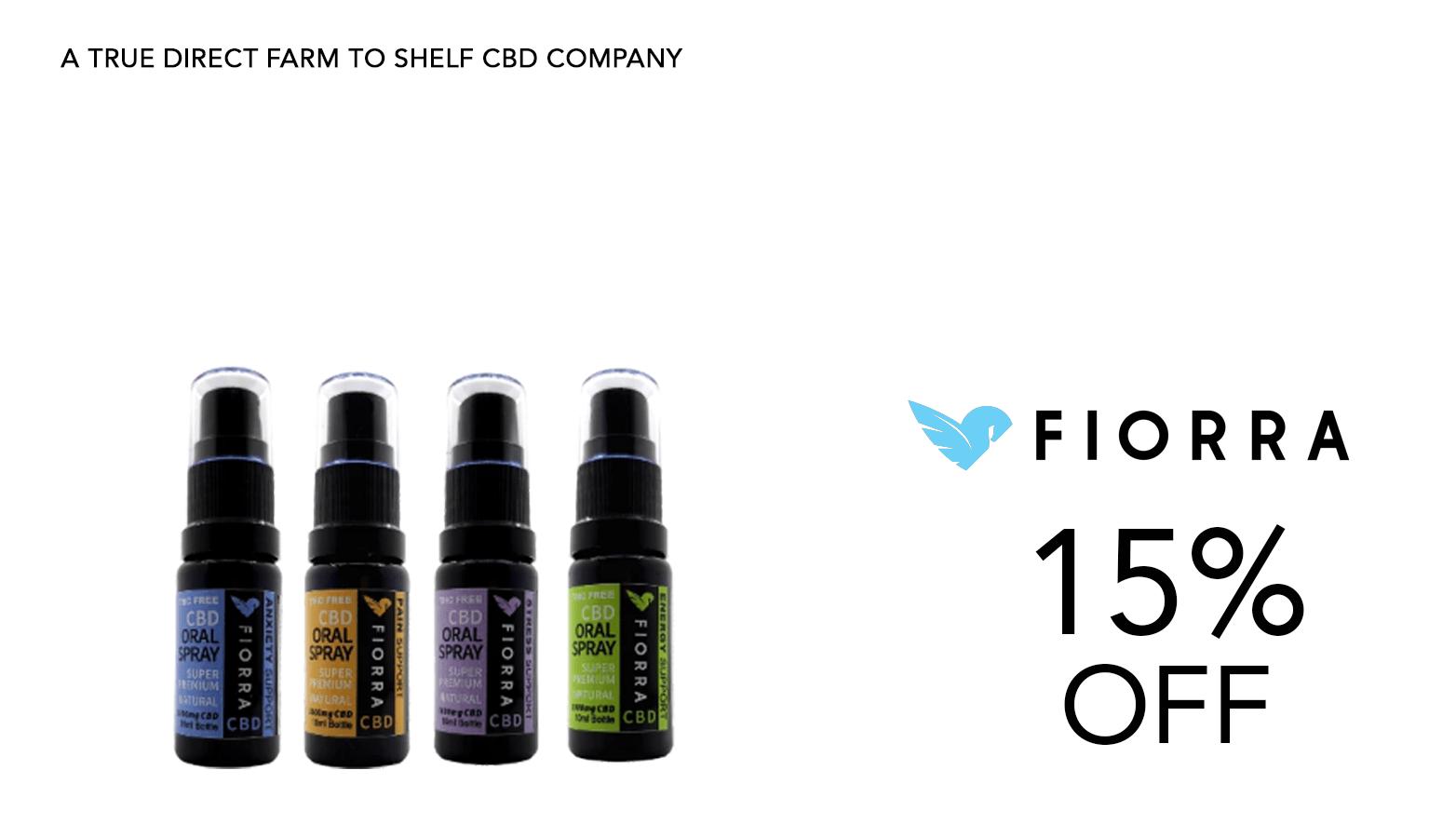 Fiorra CBD Coupon Code Oil Spray Offer Website