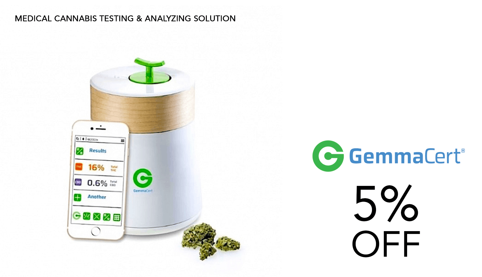 GemmaCert Cannabis Potency Testing Device Coupon Code Offer