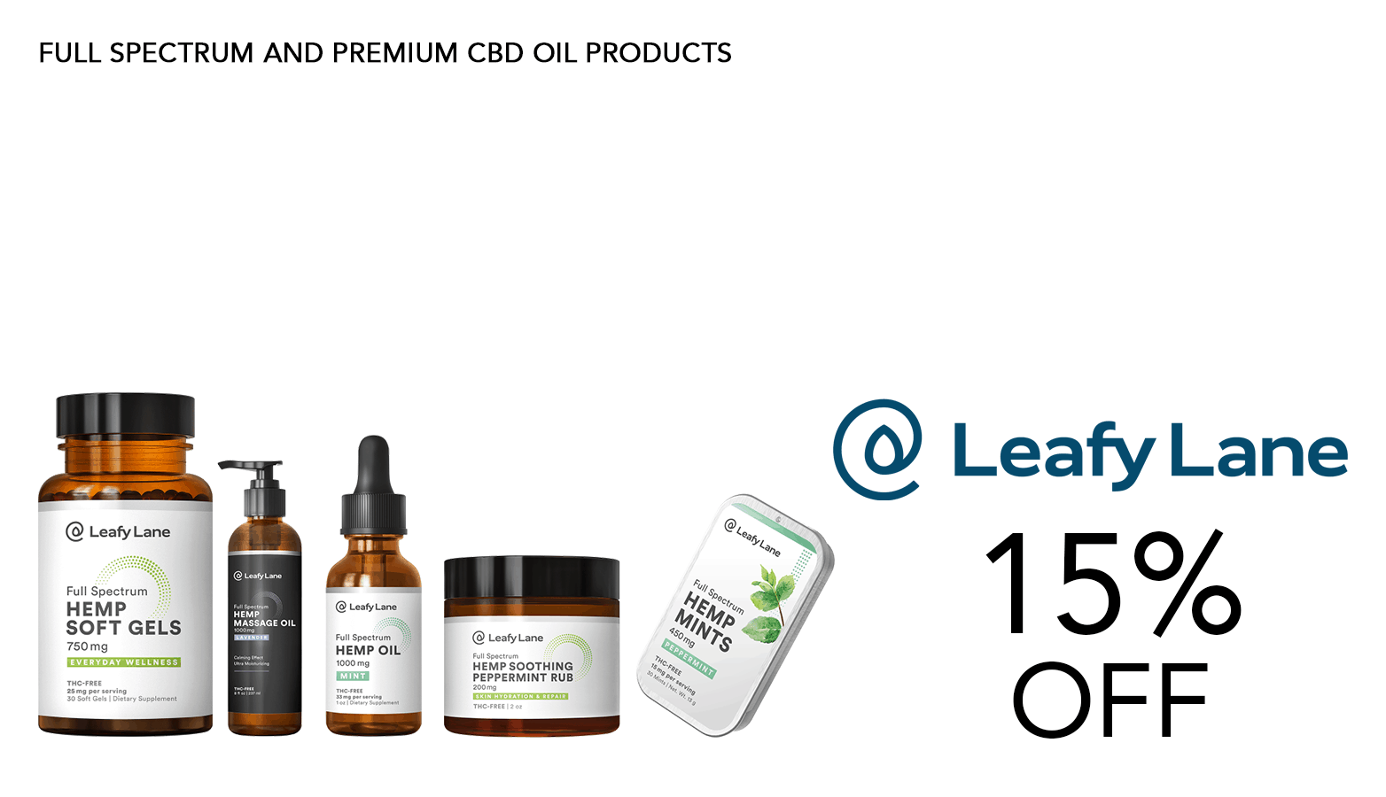 Leafy Lane CBD Coupon Code Offer Promo