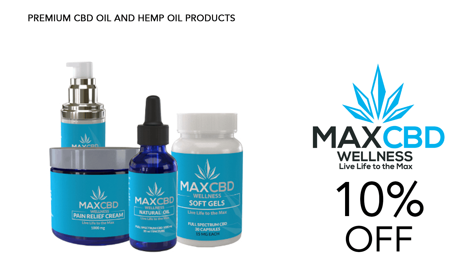 MaxCBD Wellness Coupon Code Promo