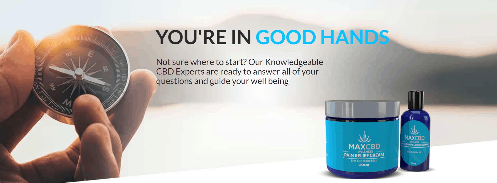 MaxCBD Wellness Coupons Good Hands