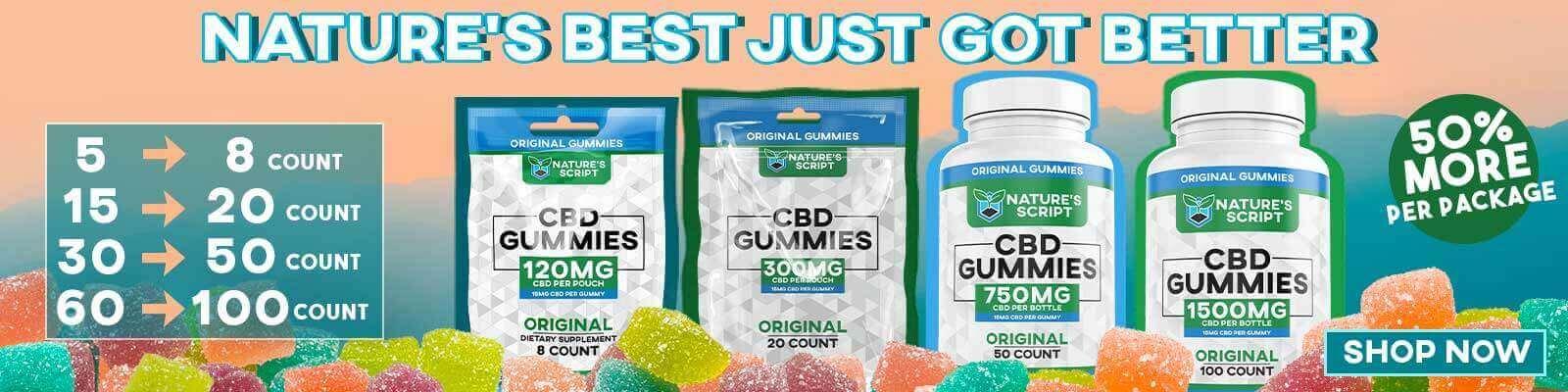 Nature's Script Best CBD Coupons Gummies