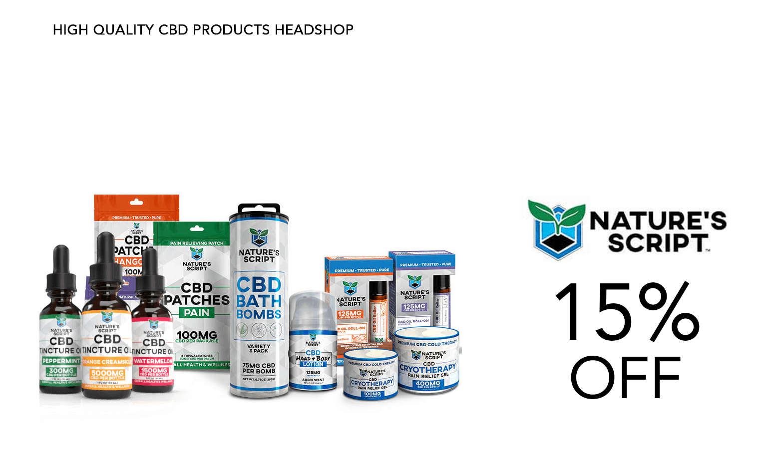 Nature's Script CBD Coupon Code Discount Promo