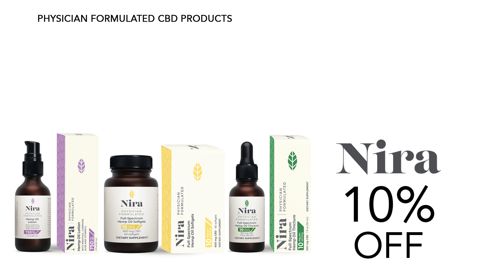 Nira CBD Coupon Code Offer Promo