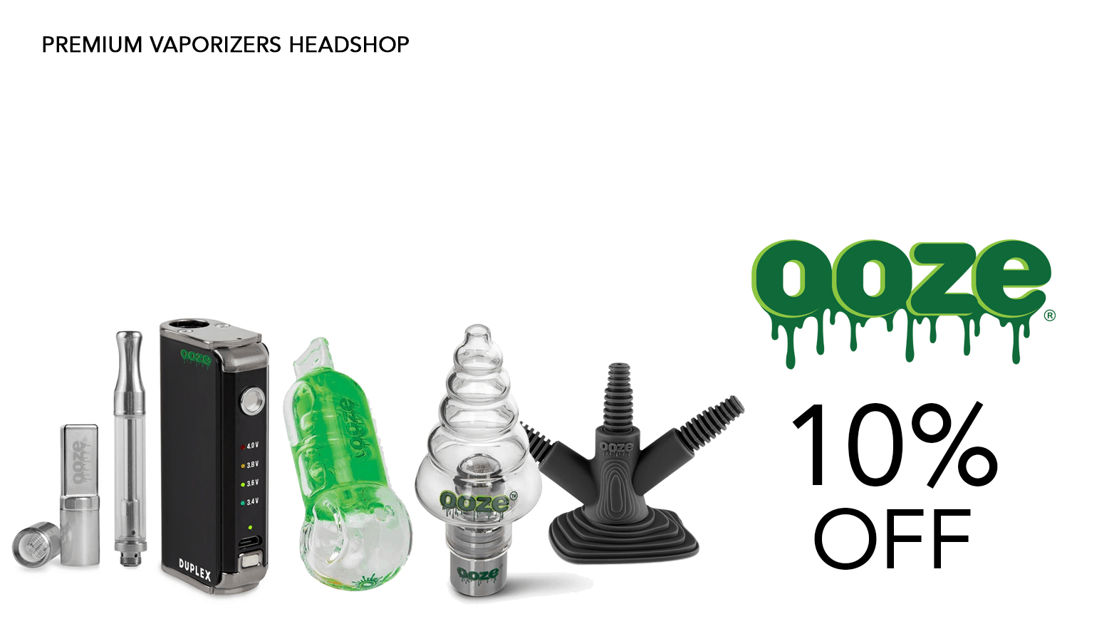 Ooze Bongs Coupon Code Promo
