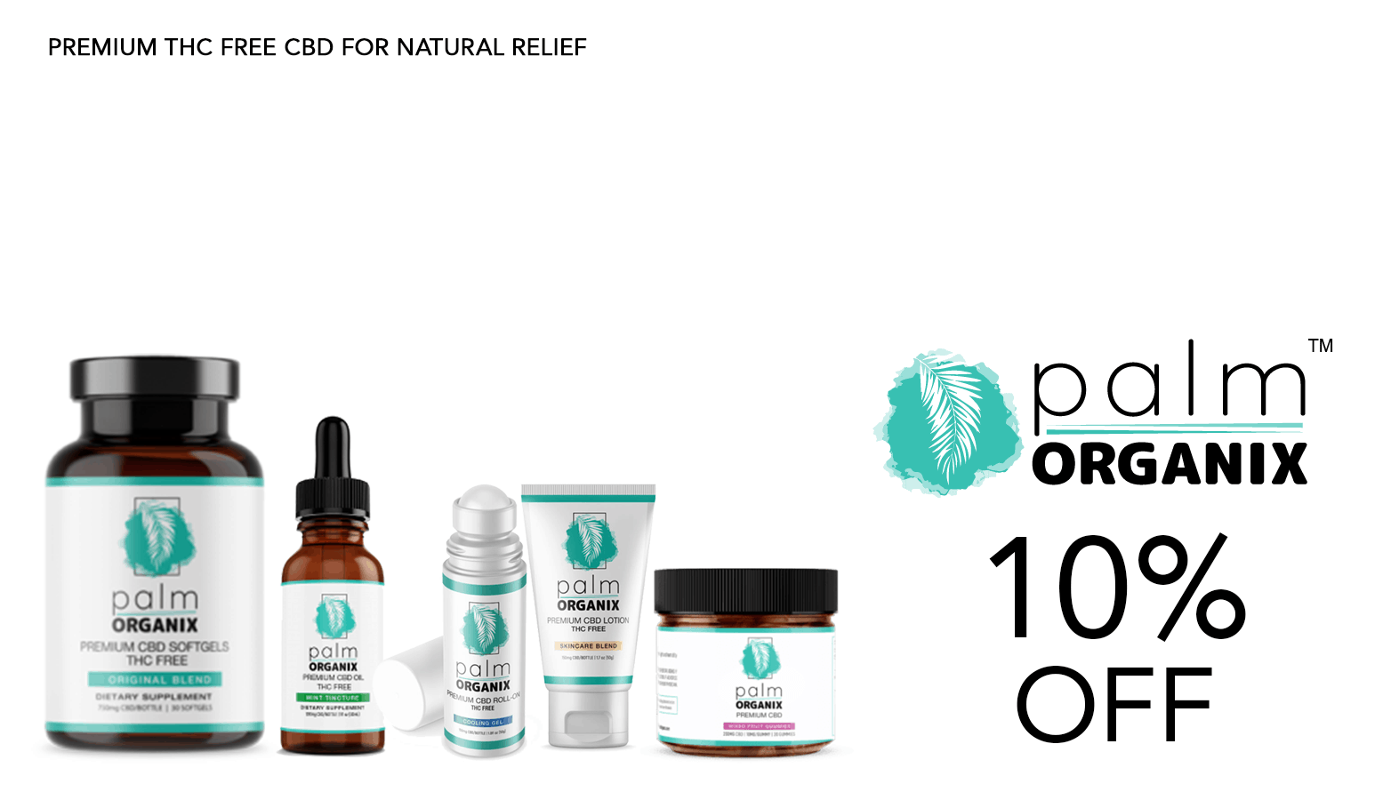 Palm Organix CBD Coupon Code Promo Discount