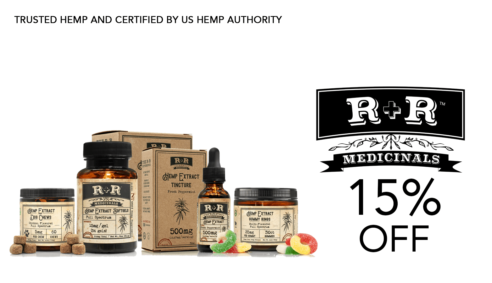 R+R Medicinals CBD Coupons Offer Website