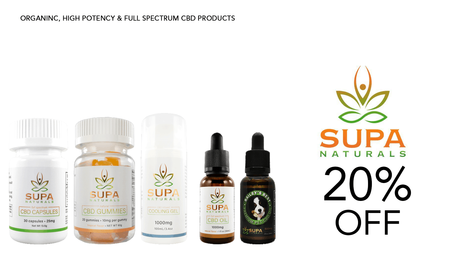 Supa Naturals CBD Coupon Code Offer Website