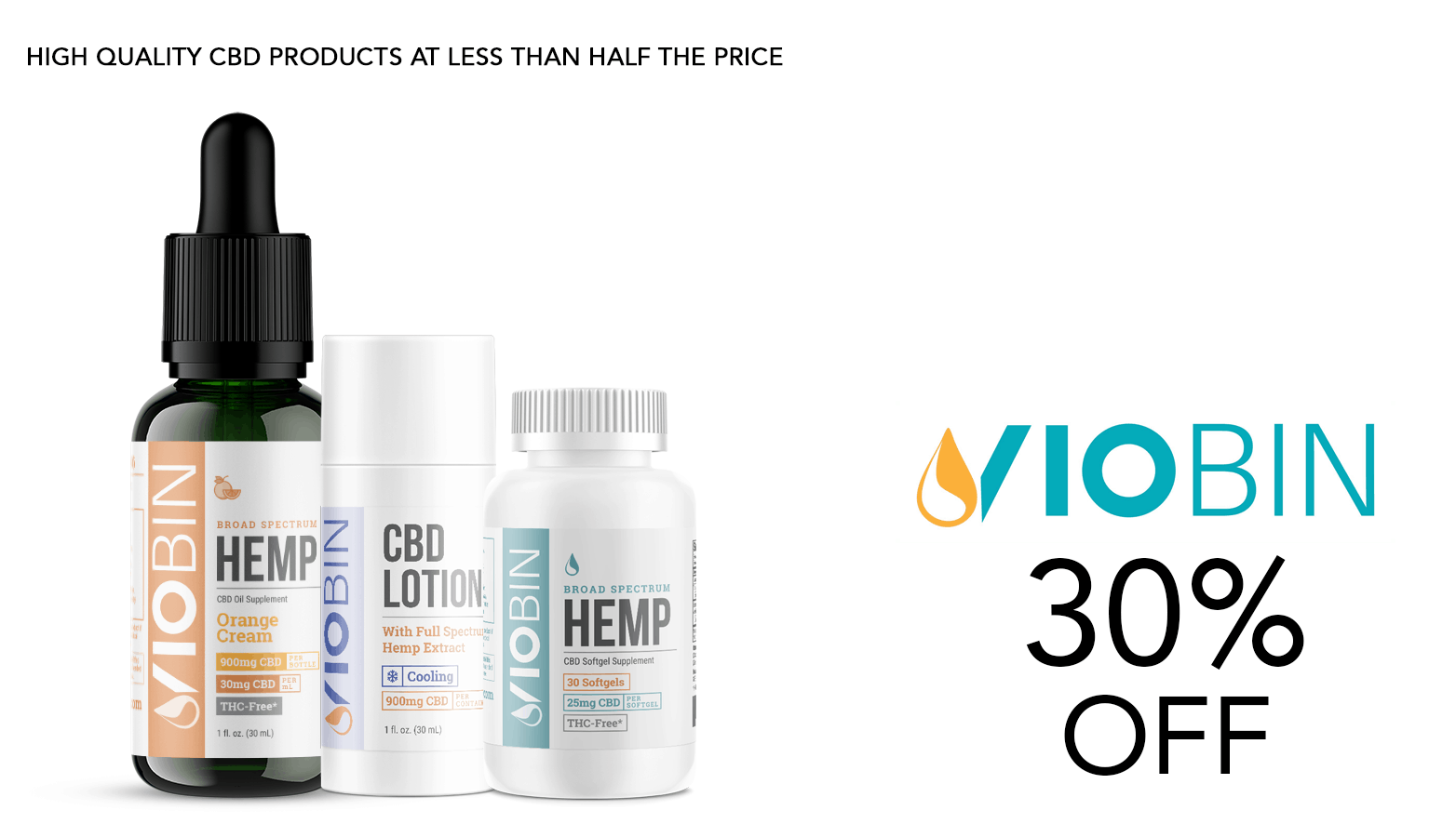 Viobin CBD Coupon Code Offer Website
