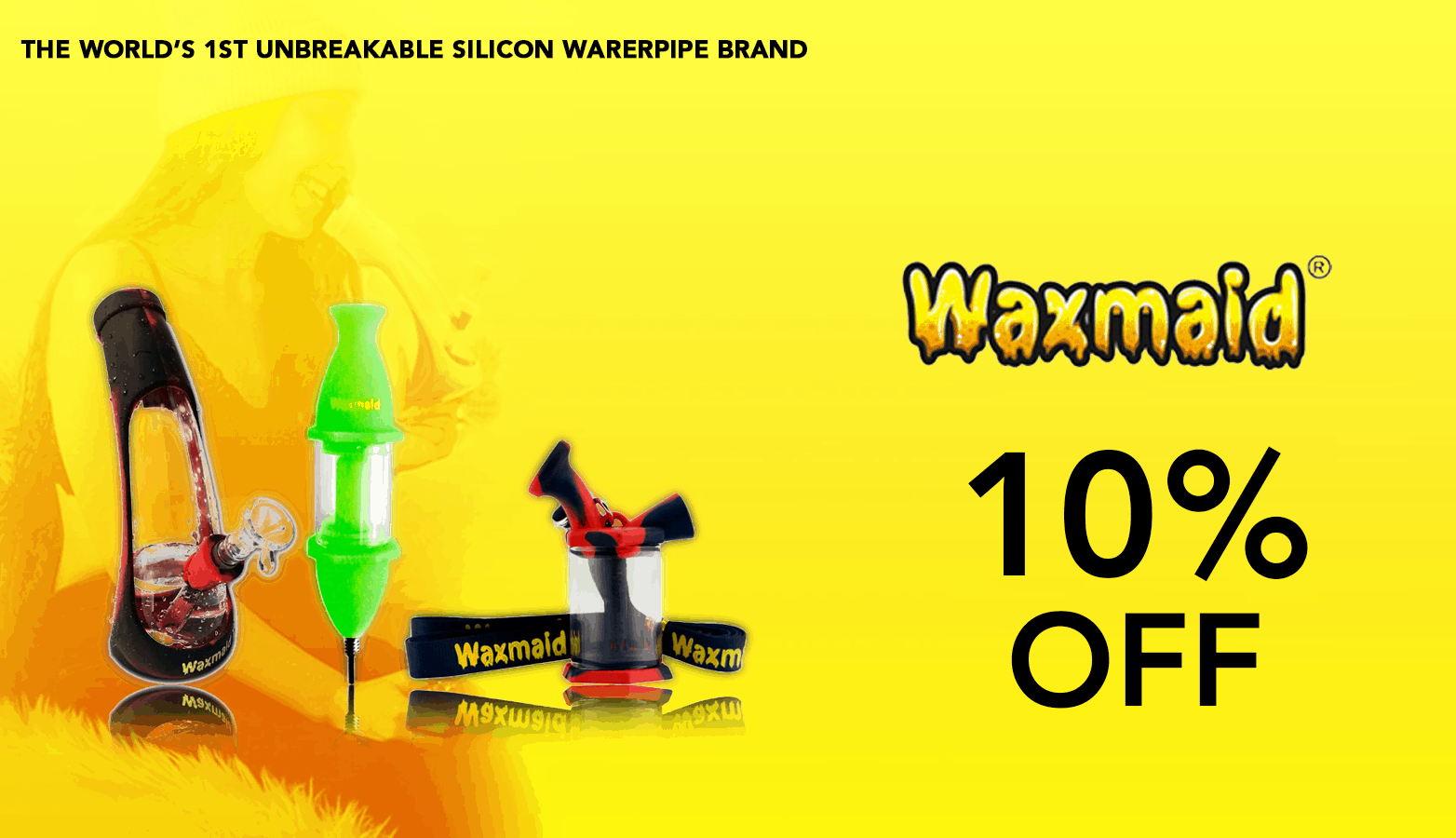 Waxmaid Coupon Code Smoking tools 10 Percent Off Website