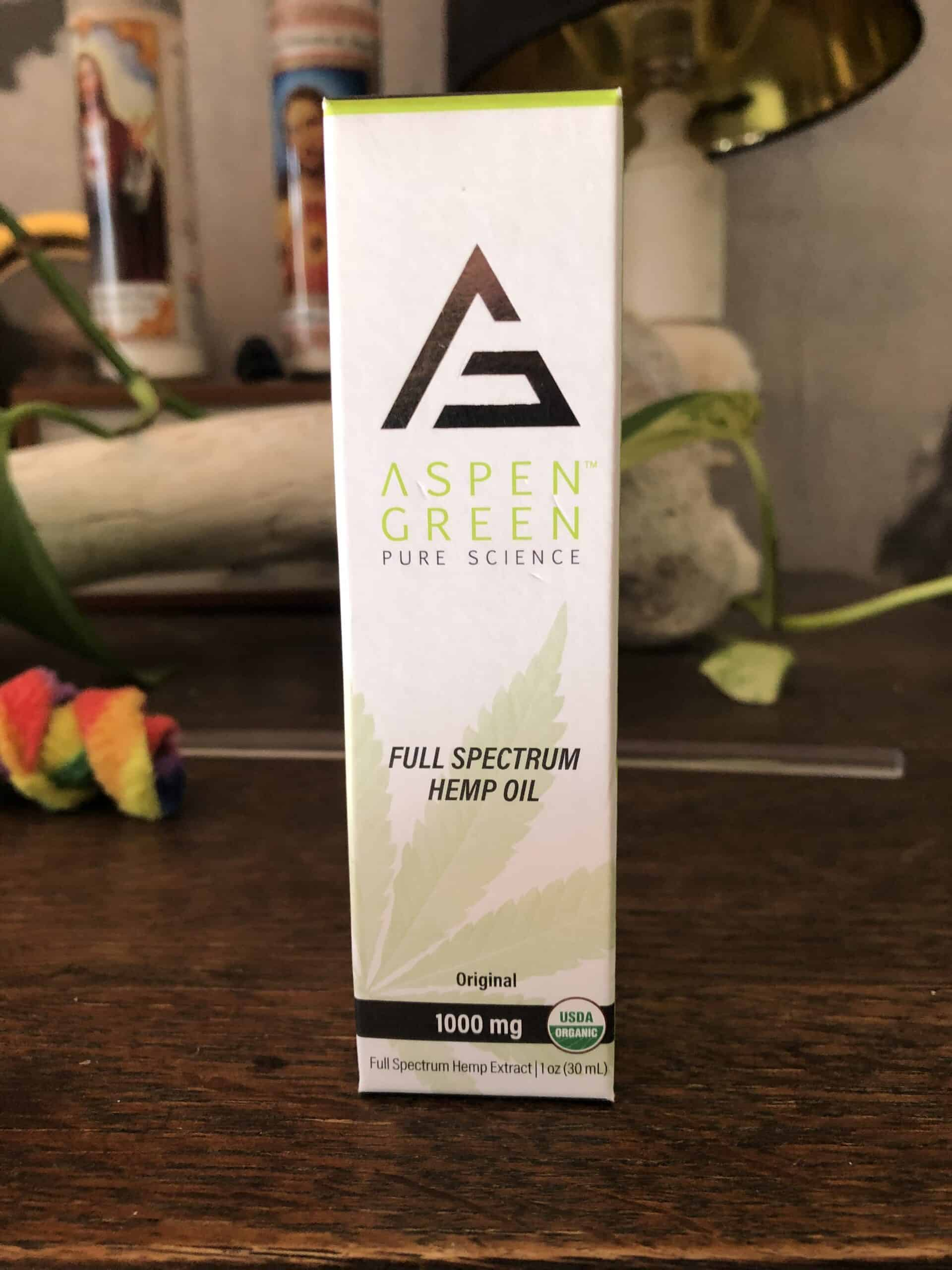 aspen green full spectrum hemp oil 1,000 mg save on cannabis review