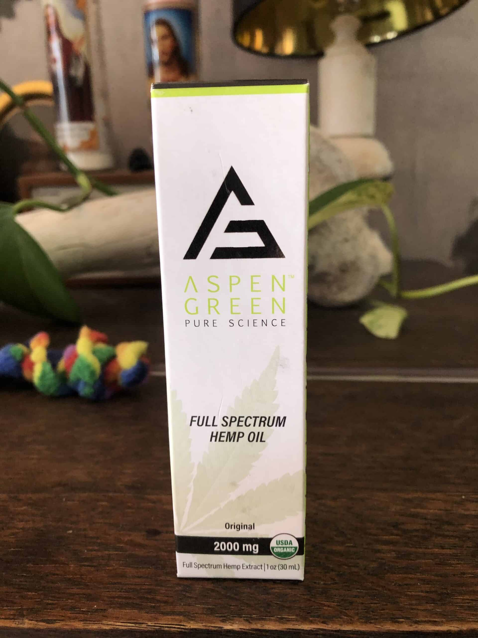 Aspen Green Full Spectrum Hemp Oil 2000 mg