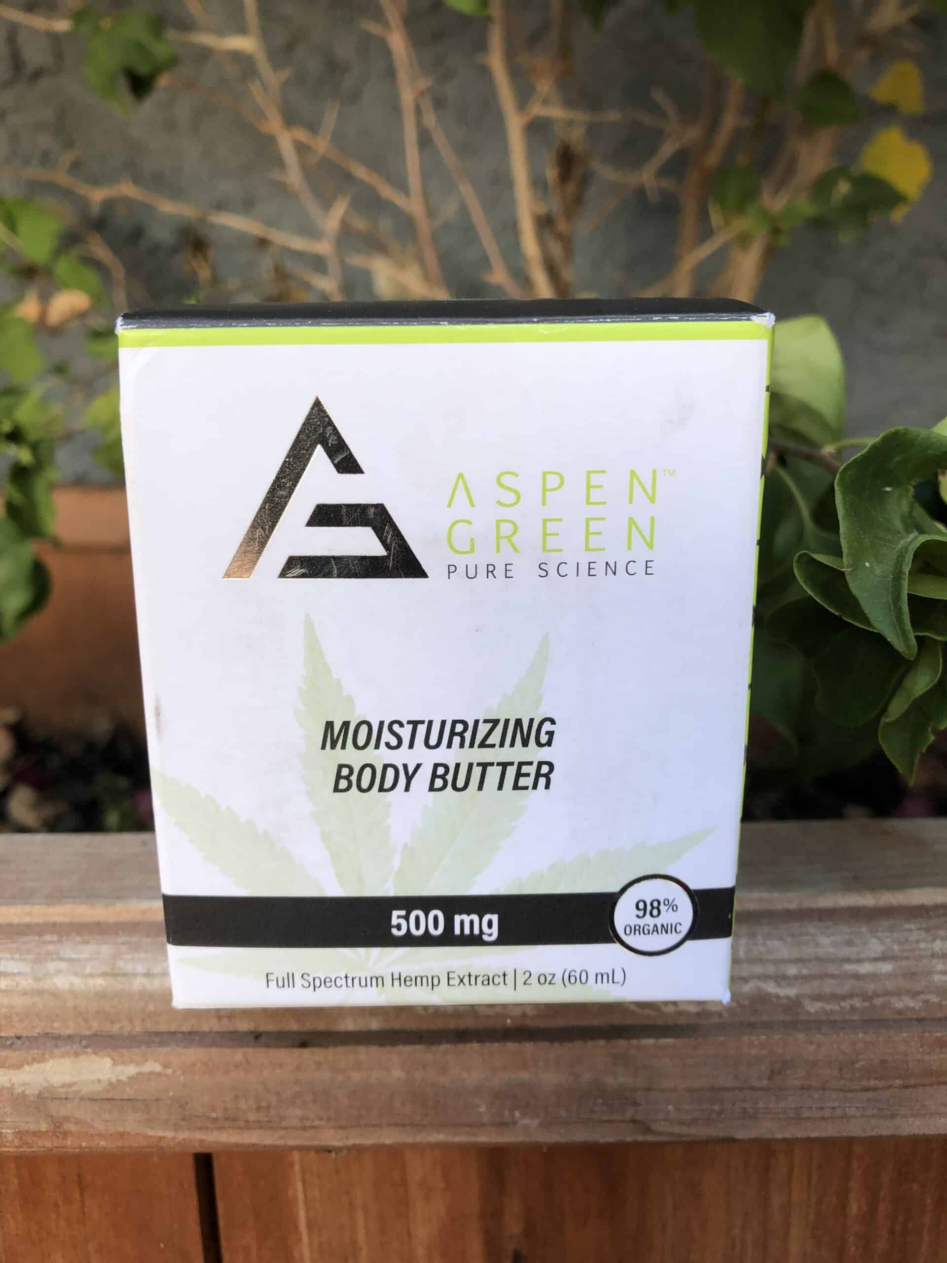 aspen green moisturizing body butter save on cannabis review