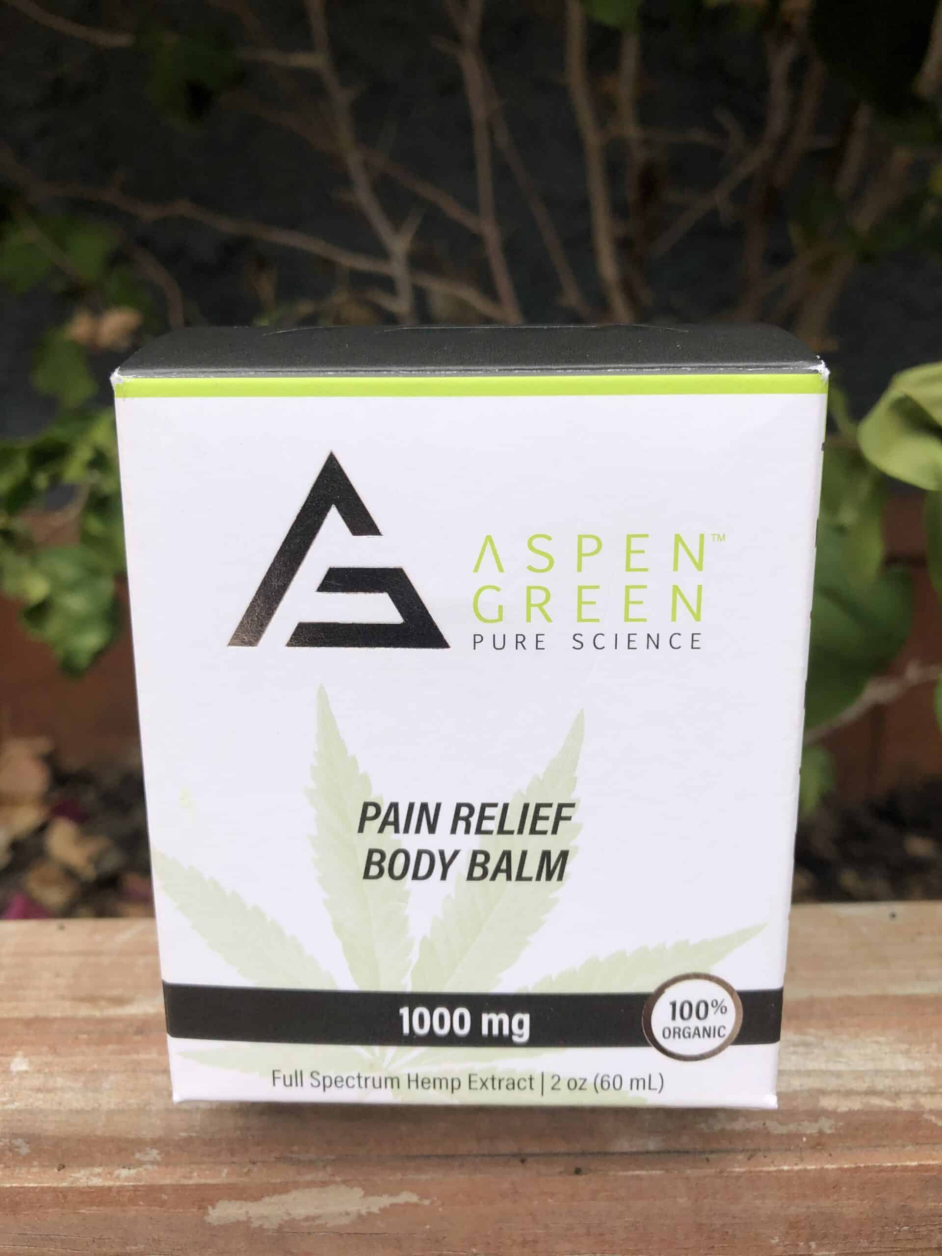 aspen green pain relief body balm save on cannabis review