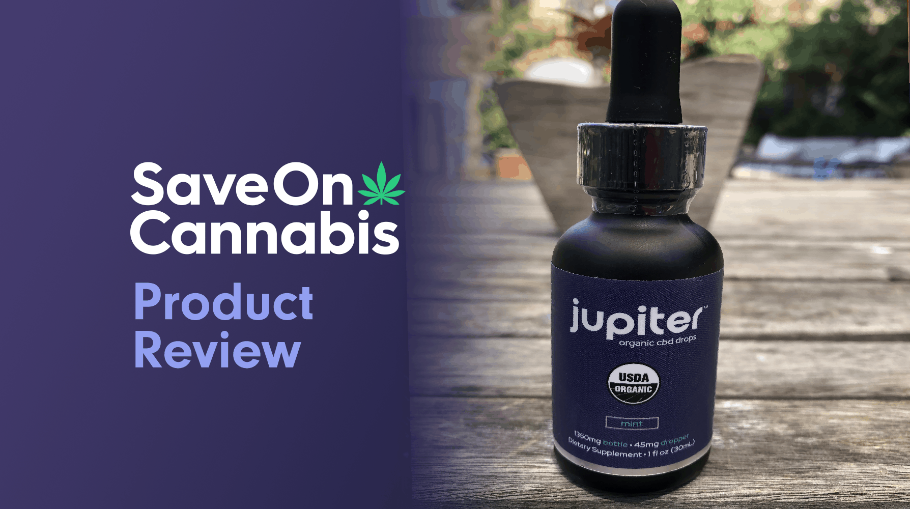jupiter organic cbd drops mint 1350 mg review save on cannabis website