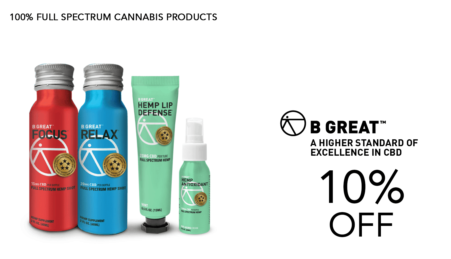 B Great CBD Coupon Code Promo