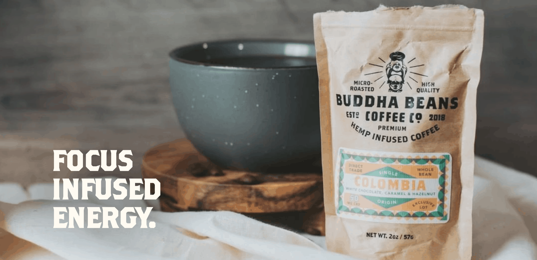 Buddha Beans Coffee Focused Infused Energy