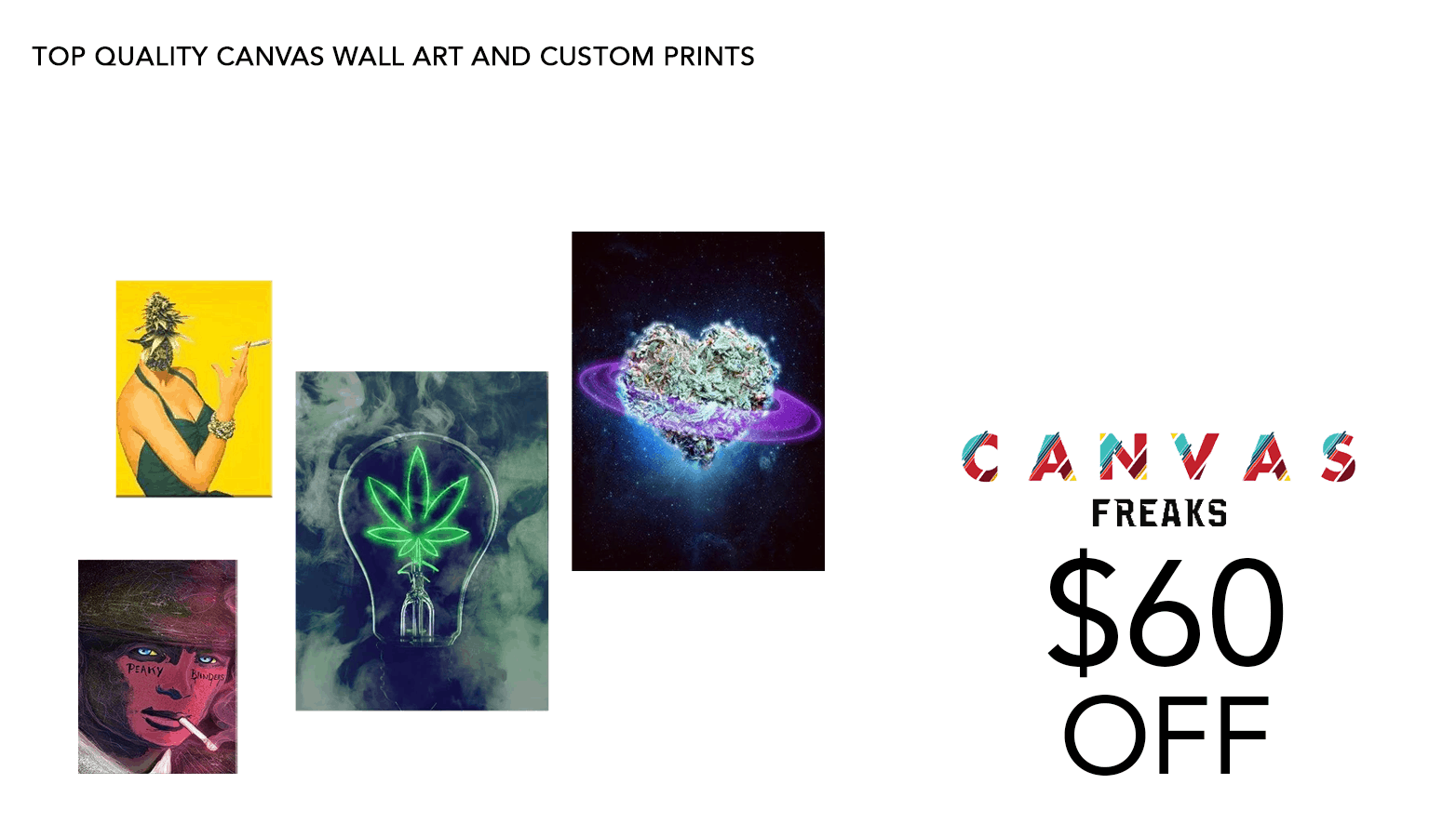 Canvas Freaks Cannabis Art Coupon Code Discount Promo