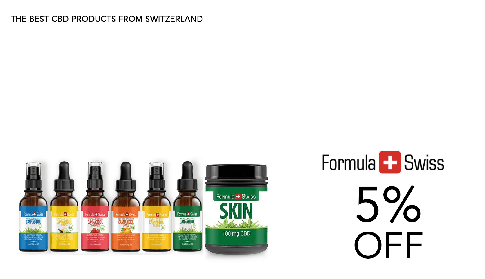 Formula Swiss CBD Coupon Code 5 Percent Offer