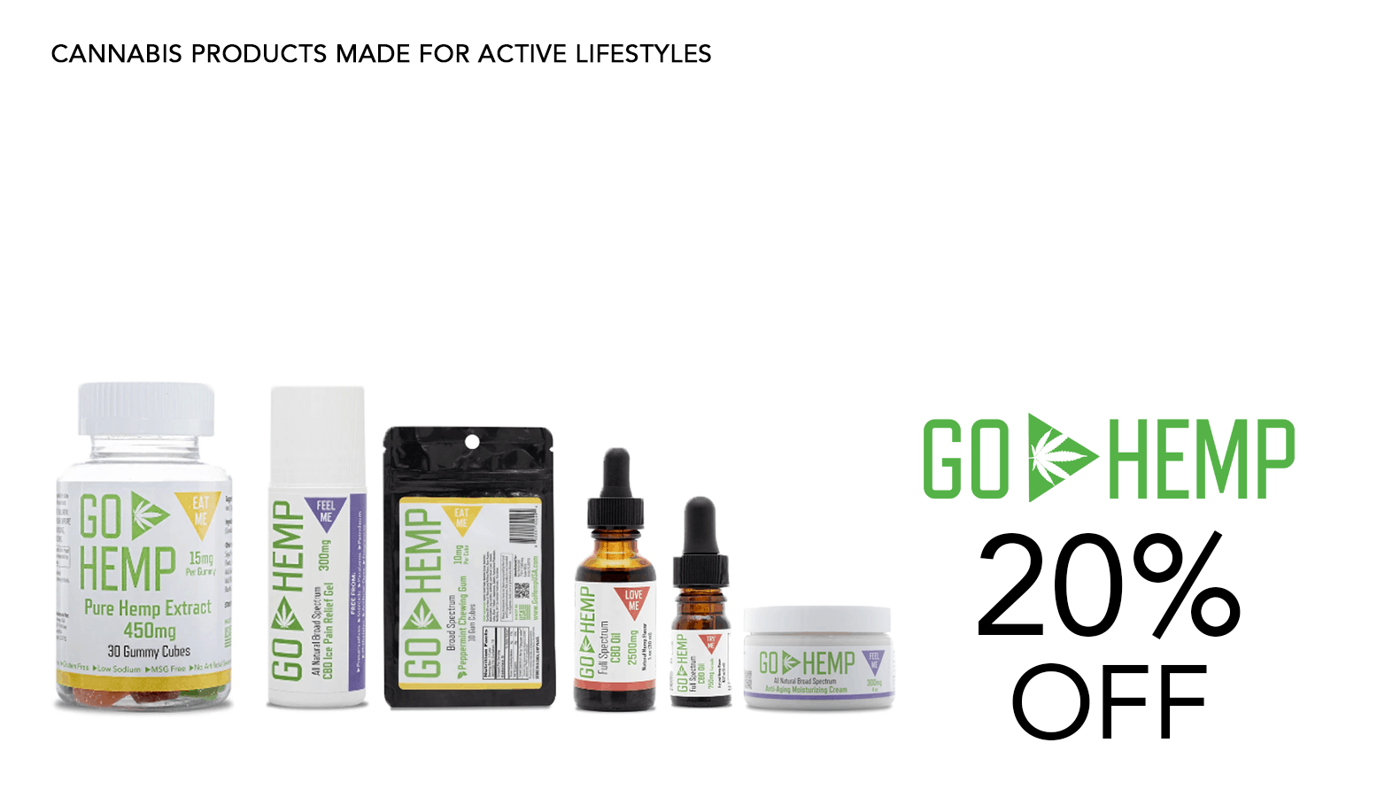 Go Hemp USA CBD Coupon Code Offer Website