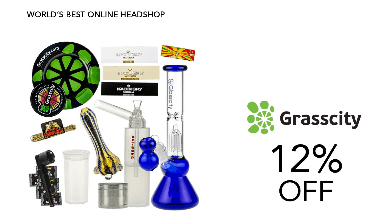 Grasscity.com Online Head Shop Coupons Offer Website