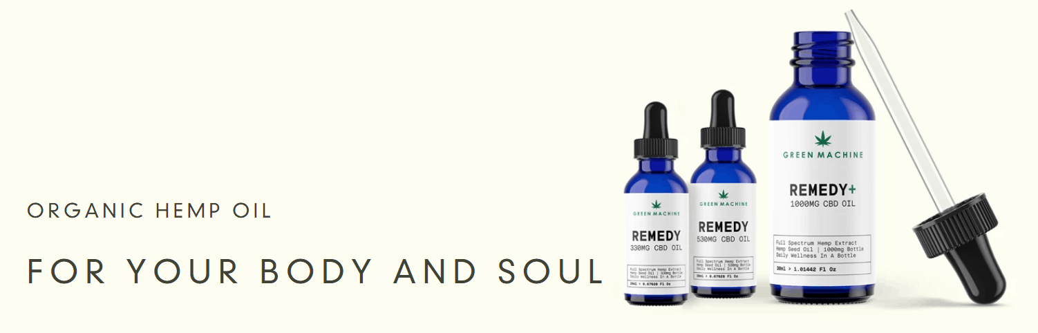 Green Machine CBD Coupons Hemp Oil For Body And Soul