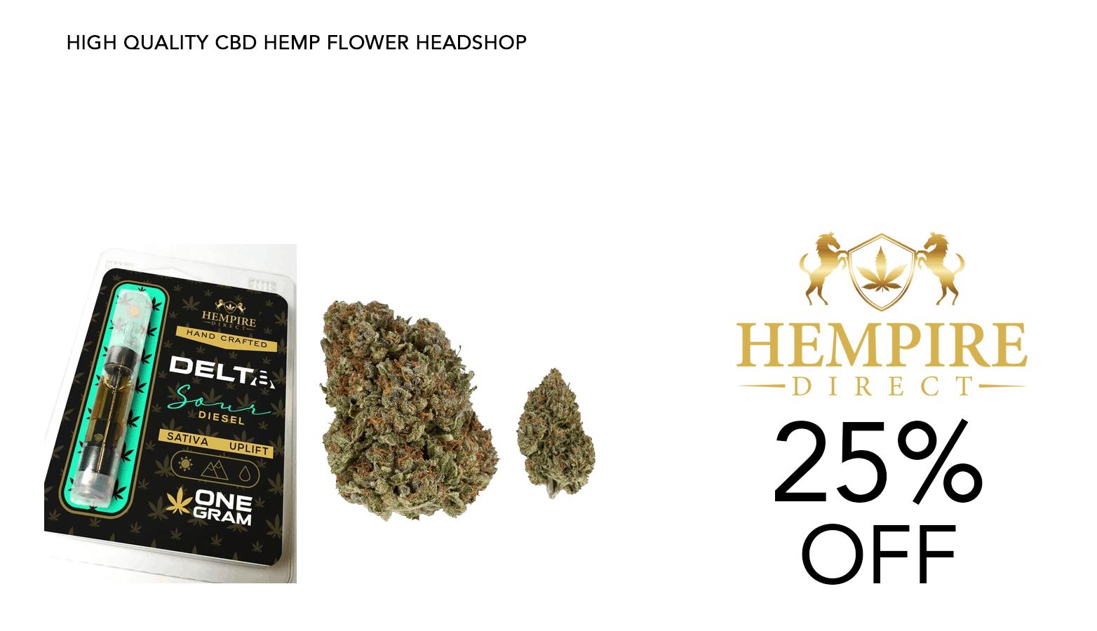 Hempire Direct CBD Coupon Code 25 Percent Off Discount