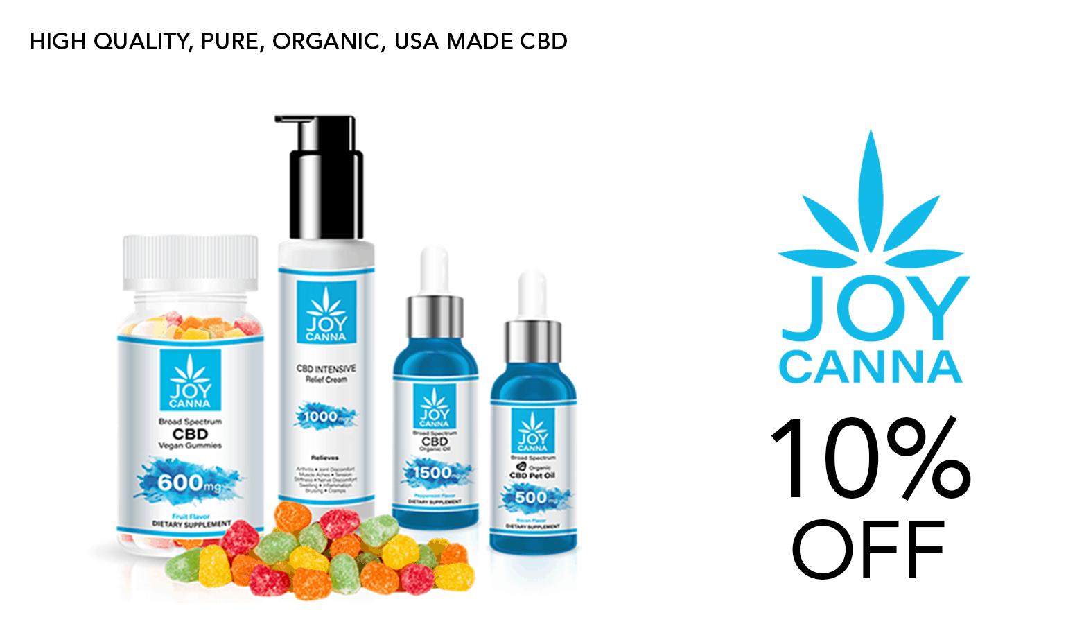 Joy Canna CBD Coupon Code Promo
