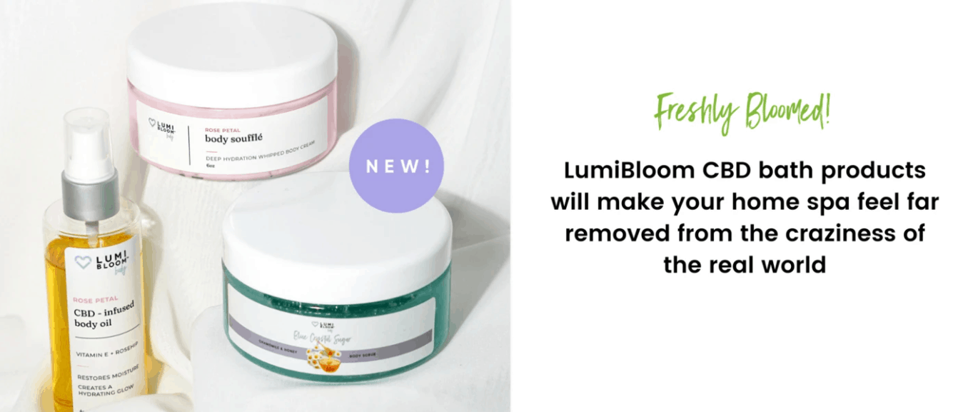 Lumi Bloom CBD Coupons Bath Products