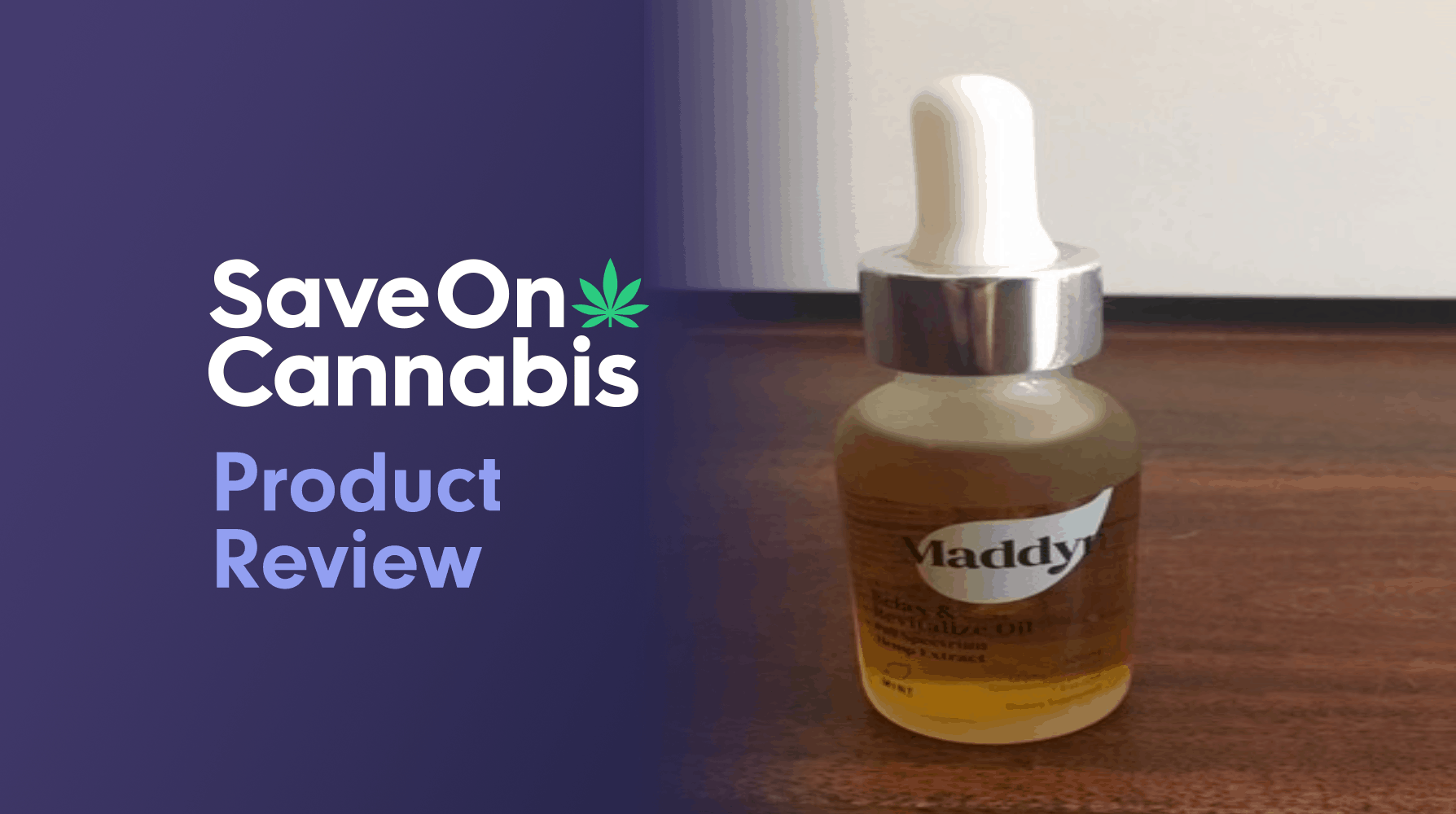 Maddyn Relax And Revitalize CBD Oil Tincture 600mg Save On Cannabis Website