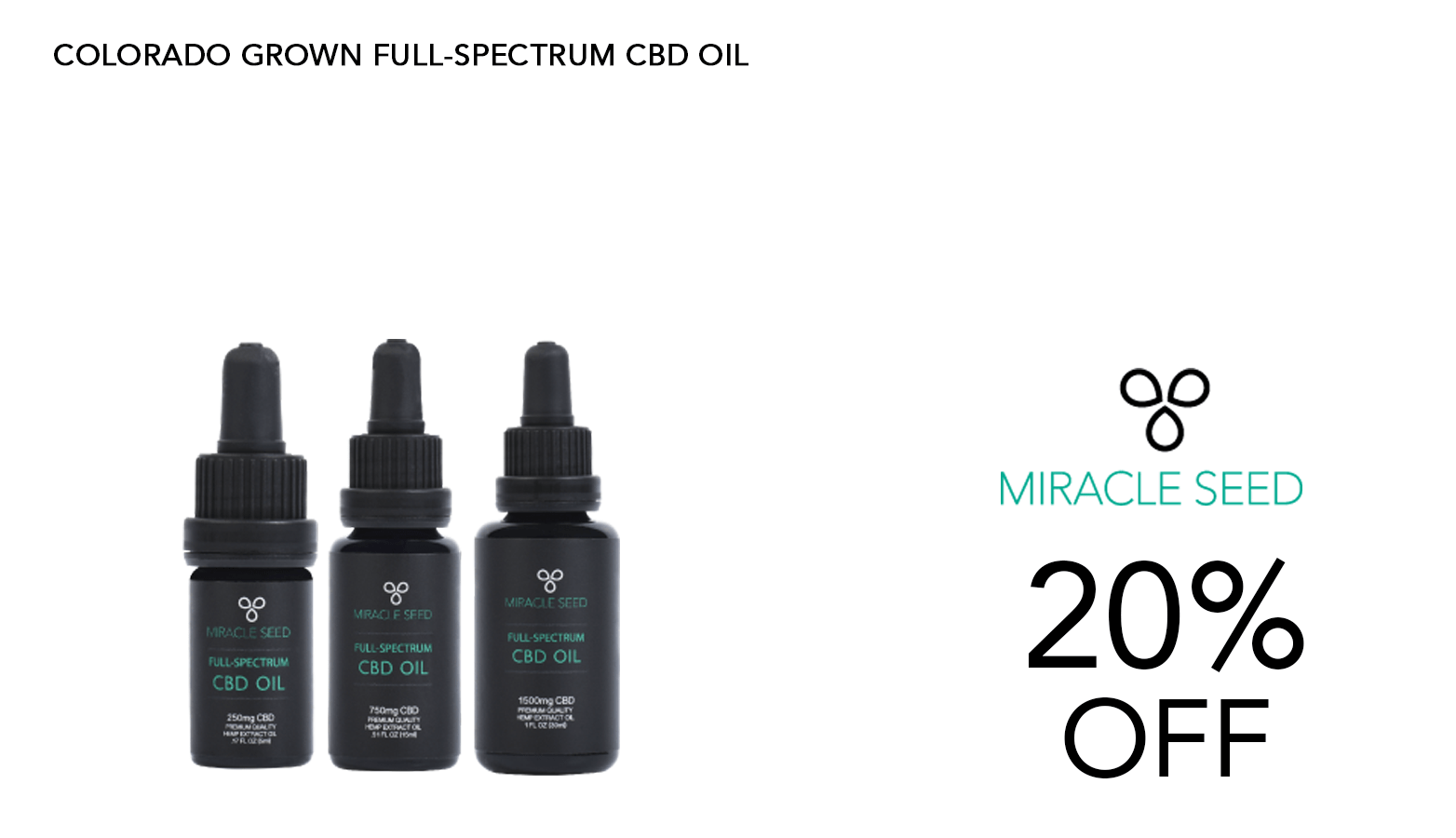 Miracle Seed CBD Coupon Code Offer Website