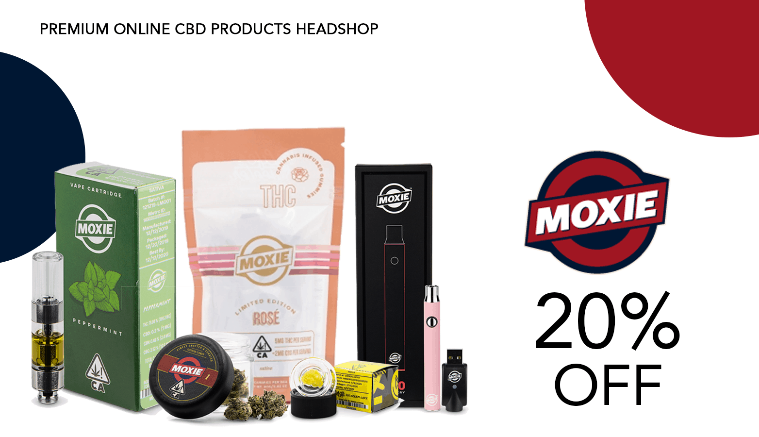 Moxie Cannabis Delivery CBD THC Coupon Code Promo