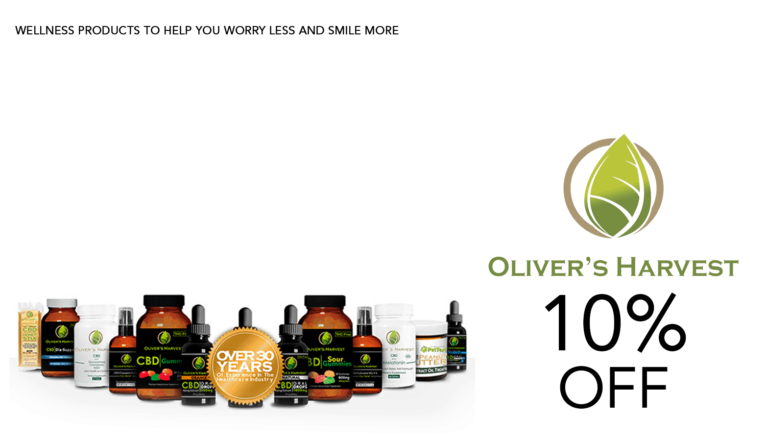 Oliver's Harvest CBD Coupon Code Offer Promo