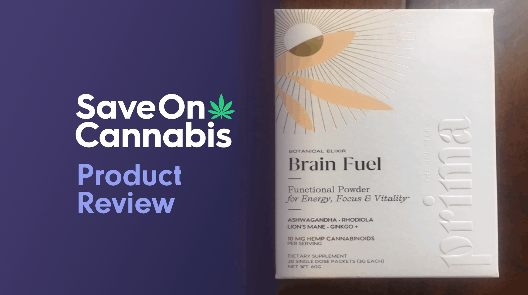 Prima Botanical Brain Fuel Elixir 10mg CBD Save On Cannabis Website