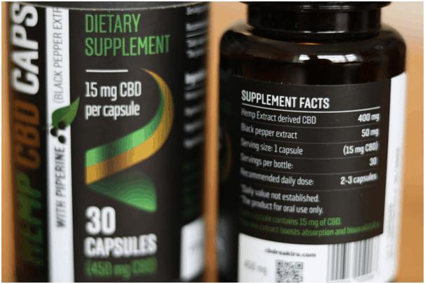 Reakiro Vegan Hemp CBD Capsules Review Specifications
